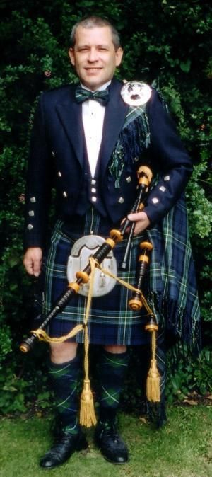 Pipe Major Mark Jamieson - Yorkshire based Scottish Bagpipe Player who is available to hire and a bagpipe player
